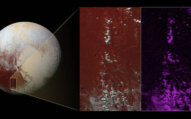 Pluton może być domem dla pokrytych metanem górskich szczytów