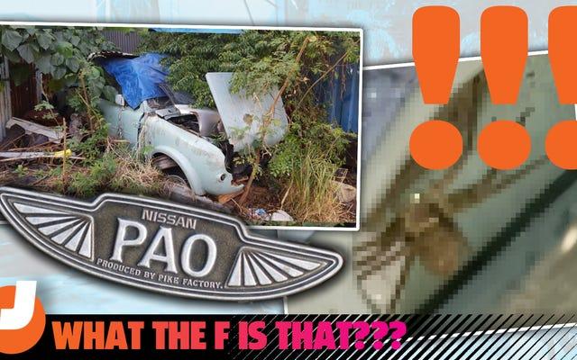 香港で珍しい日産パオの残骸を見つけましたが、部品の取り外しは悪夢でした