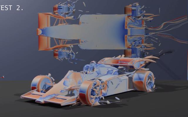 これが1980年代のF1カーの最新の空力解析です