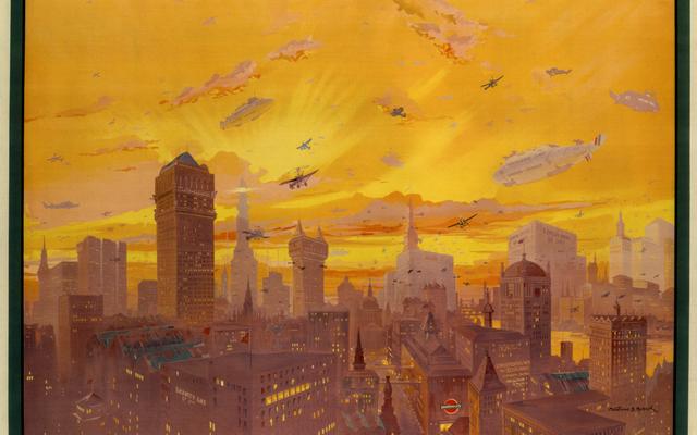 Bu 1926 Afişi Londra'nın Ulaşım Geleceğini Öngörüyor