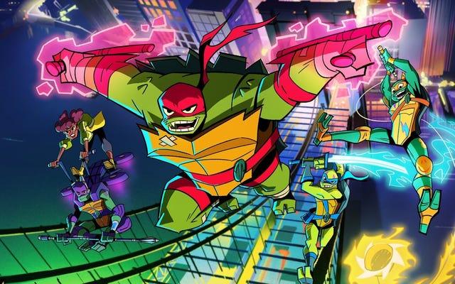 Deja que las tortugas ninja mutantes adolescentes despierten a tu hijo