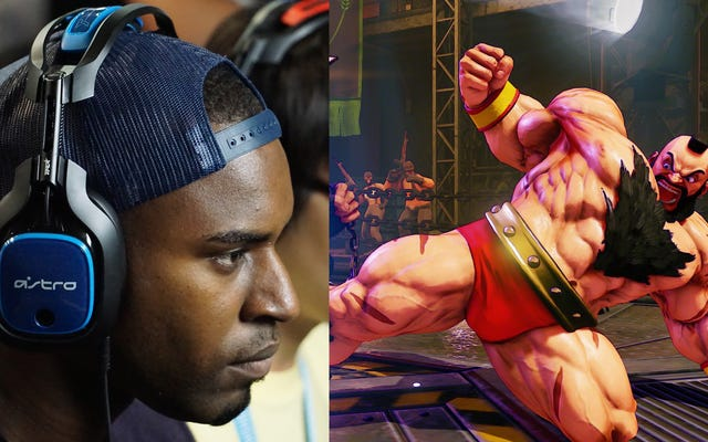 Snake Eyez ยืนอยู่ข้างชายผู้ยิ่งใหญ่ Bear Hug Man ของ Street Fighter