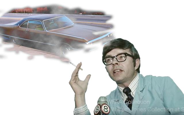 これは喫煙1970年代の科学者があなたが運転することはあなたについて言うことを考えるものです