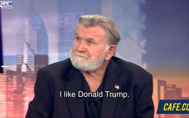 SNLのスーパーファンはマイクディトカのダトランプの支持に反応します