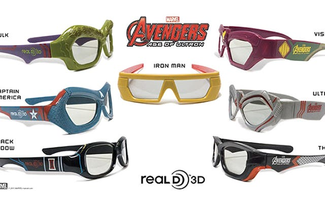 3D映画で本当に欠けているのはアベンジャーズをテーマにしたメガネです