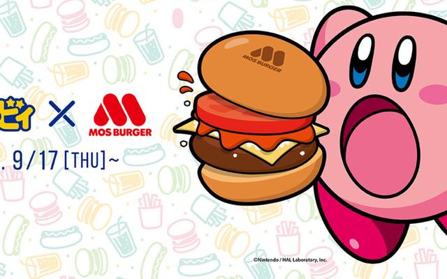 カービィは現在、日本でハンバーガーを販売しています