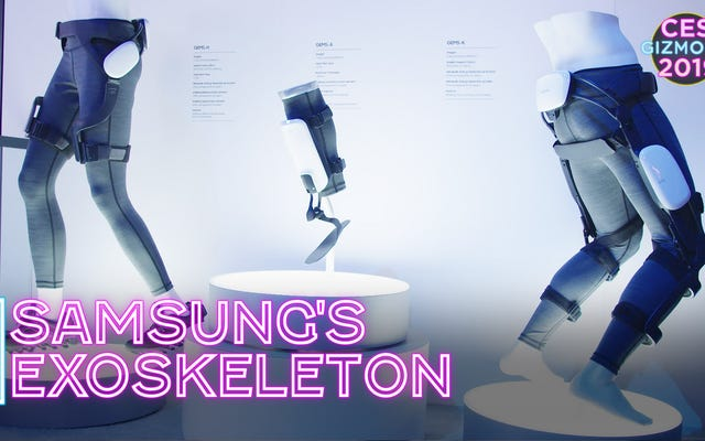 Samsung Let Me Wear an Exoskeleton, and I Like It