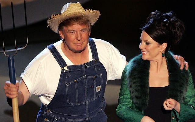 Notre président vient de tweeter une photo de lui-même portant un cache-couche Hillbilly et nous allons probablement tous mourir