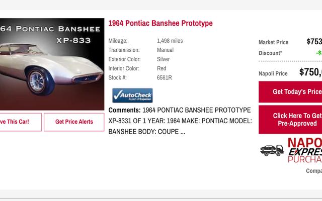 Dealer Kia z Connecticut sprzedaje jednorazowy samochód koncepcyjny Pontiac Banshee z 1965 roku