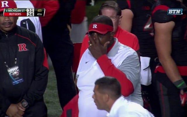Rutgers perd l'esprit, pointe la balle en quatrième position