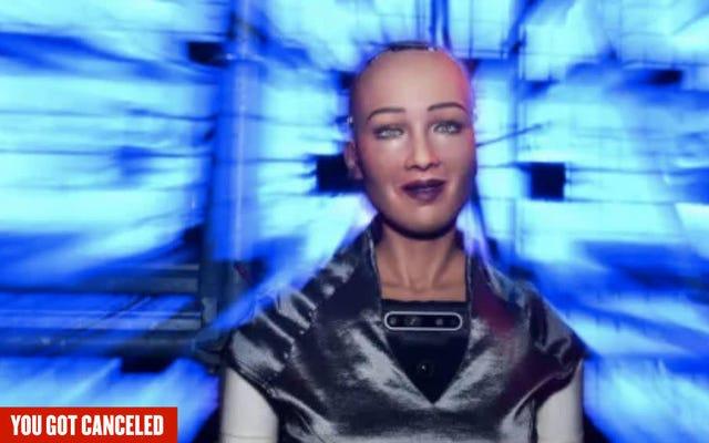 ソフィアと彼女のヒューマノイドロボットの兄弟をキャンセルする