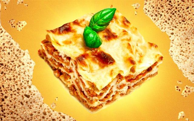 Matzo Lasagna . के साथ अपना खुद का रोमांच चुनें