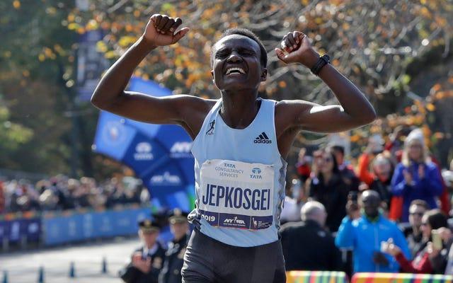 史上最速のデビュータイムでニューヨークシティマラソンに優勝したジョイシリンジェプコスゲイを誇りに思います