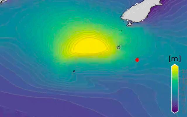 モンスター78-南極海で記録された足の波
