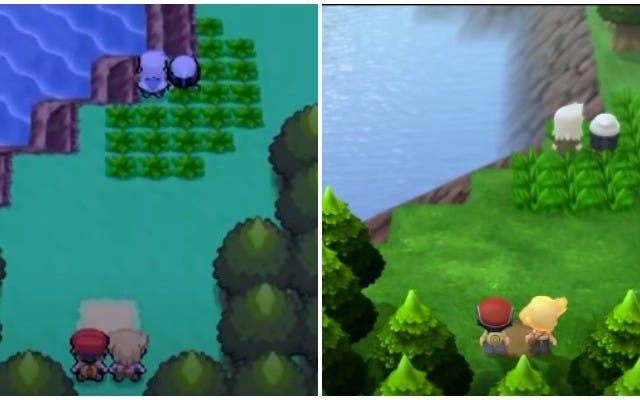 ポケットモンスターブリリアントダイヤモンドとシャイニングパールのグラフィックをオリジナルゲームと比較
