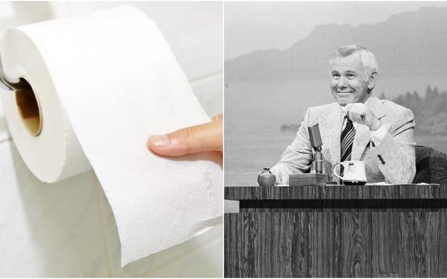 参加する、インターネット:トイレットペーパー不足を引き起こしているジョニーカーソンについてのこの映画をサポートする