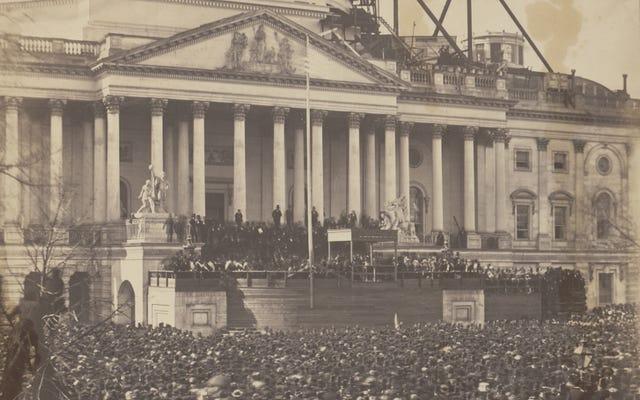Une photographie exceptionnellement rare de la première inauguration de Lincoln sera exposée aujourd'hui
