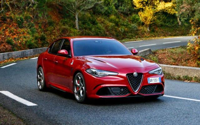 L'Alfa Romeo Giulia commence à 38990 $, la Dreamy 505 HP Quadrifoglio à 73595 $