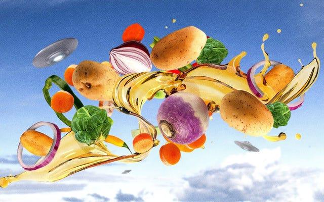 グレージングは、ロースト野菜を土からこの世界の外へと運びます
