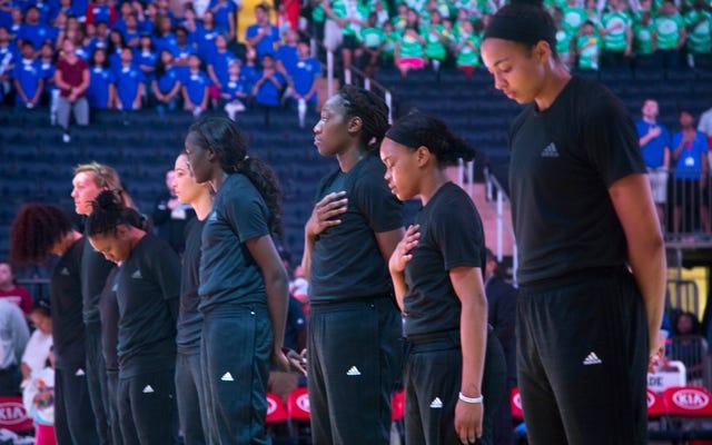 Les joueurs de la WNBA continuent de manifester malgré les amendes et la panne des médias sur scène