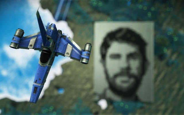 No Man's Sky Planet ha una faccia gigante di Sean Murray