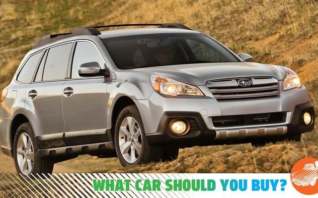 Ma vieille Subaru va bien, mais je la méprise en quelque sorte! Quelle voiture devrais-je acheter?