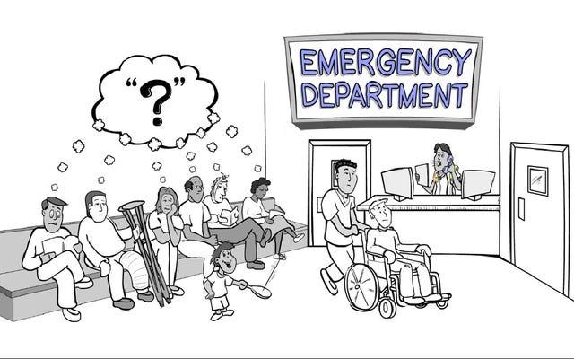 Cette vidéo explique pourquoi vous attendez si longtemps aux urgences