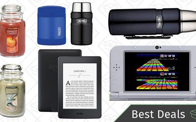 Pazartesinin En İyi Fırsatları: Amazon Kindles, Yankee Candles, Nintendo 3DS SNES Edition ve Daha Fazlası