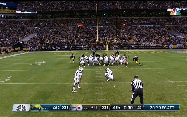 Chargers Mencapai Gol Lapangan Memenangkan Pertandingan meskipun Steelers Mengulangi Percobaan Blok Offsides