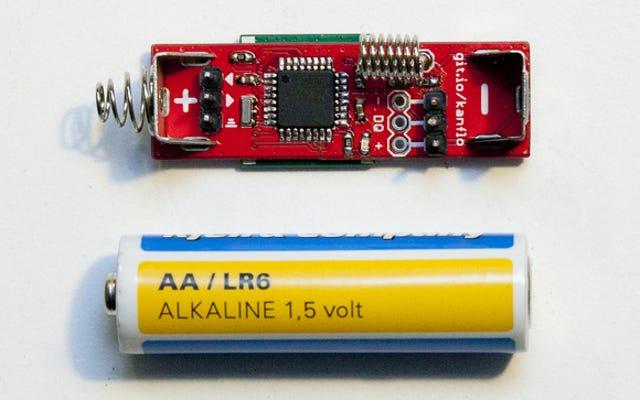 Piense en las cosas que podría hacer con esta placa Arduino de tamaño AA