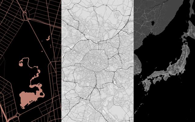 携帯電話のロック画面の地図を作成する