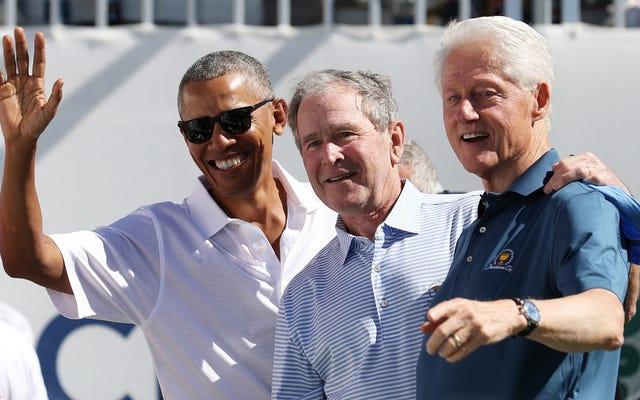 オバマ、ブッシュ、クリントンは、Covid-19ワクチンを接種すると言っていますが、一列に並ぶことはありません
