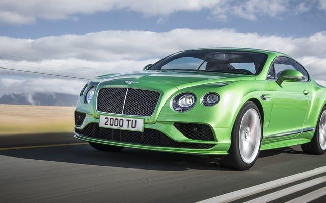 Bentley lance un coupé 200000 $ + de la même couleur que la Hyundai de votre colocataire