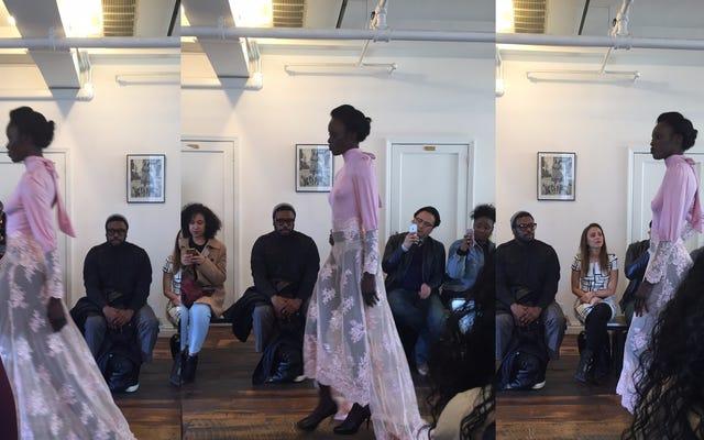 Scènes d'un défilé de mode du vendredi après-midi
