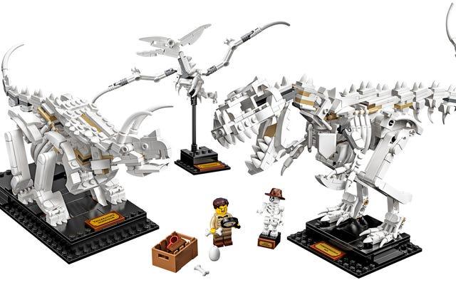 レゴの新しい恐竜の化石があなたの机をミニチュア自然史博物館に変えます
