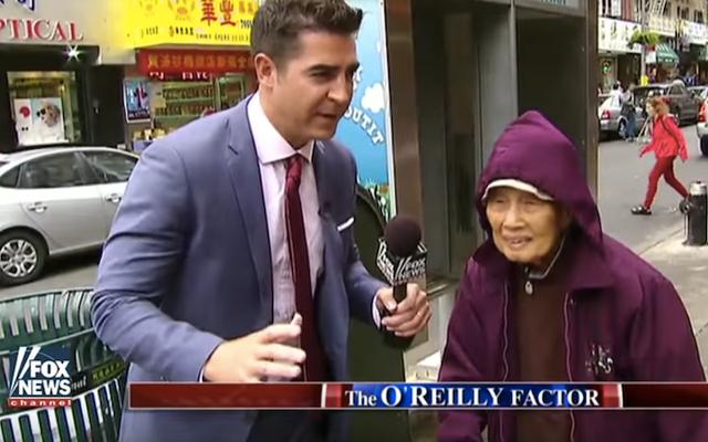 O'Reilly Factor Producer จะพบกับนักข่าวชาวเอเชียเกี่ยวกับกลุ่มไชน่าทาวน์ที่น่ารังเกียจ