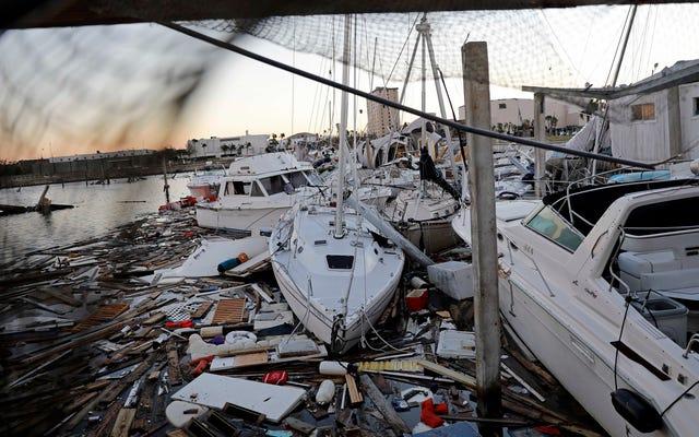 広範囲にわたるケーブル、インターネット、およびラジオの停止マークハリケーンマイケルの破壊の道