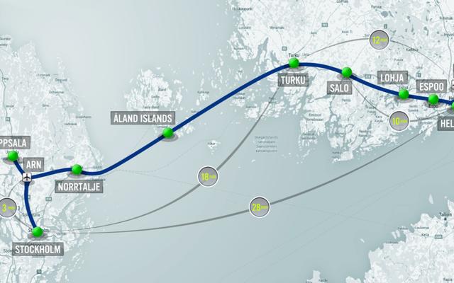 ヘルシンキとストックホルムを結ぶハイパーループが300マイルの旅を28分のライドに変える
