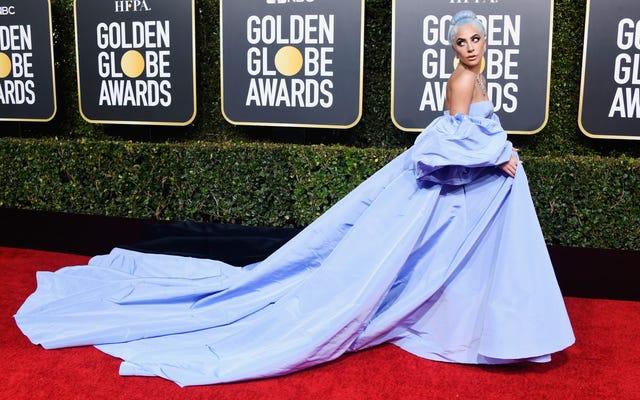 Lutte des classes! La robe Golden Globes de Lady Gaga mise aux enchères par la gouvernante de l'hôtel affirmant qu'elle `` l'a trouvé ''