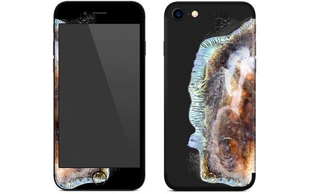このiPhoneスキンはあなたの電話を爆発したノート7に変えます
