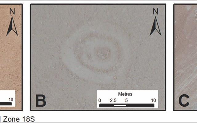 考古学者は、ペルーのナスカ線に非常に近い奇妙な円形のジオグリフを発見します
