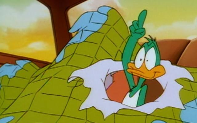 Après un voyage de près de trois décennies, Plucky Duck est enfin arrivé à Happy World Land