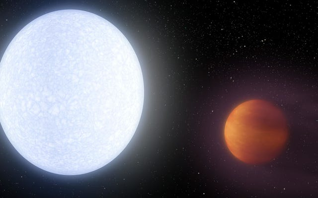 最もホットな既知の太陽系外惑星の水素分子が細断されている