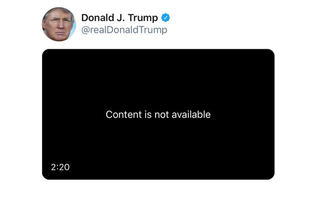 La plainte de REM pour atteinte aux droits d'auteur fait que Trump tweeté par Twitter