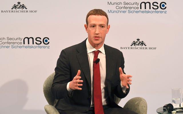 Zuckerberg: Il est maintenant plus pratique pour moi d'être l'arbitre de la vérité