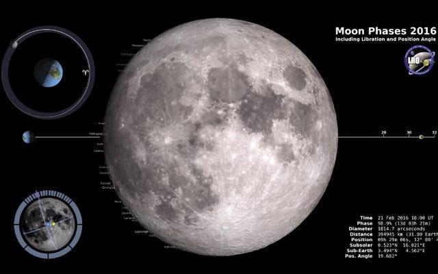 Tutte le fasi che avrà la Luna nel 2016 sono raccolte in questo video ipnotico