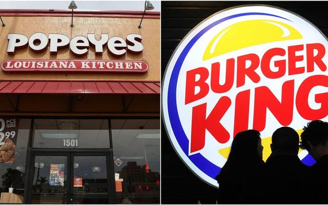 Popeyes и Burger King вступили в священный брак в фаст-фуде