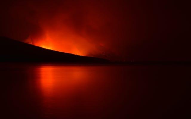 อุทยานแห่งชาติธารน้ำแข็งถูกไฟไหม้