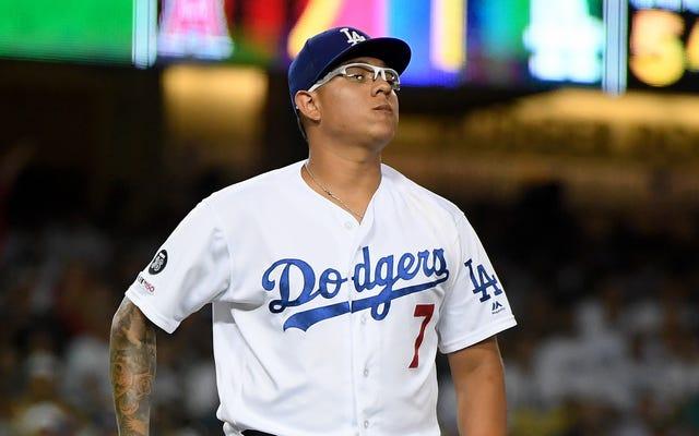 Le lanceur des Dodgers Julio Urias a suspendu 20 matchs pour violation de la politique de violence domestique de la MLB