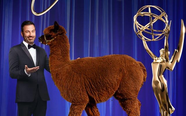 エミー賞のプロデューサーが135のライブフィードとアルパカをからかう:それは「ロジスティックの悪夢」です